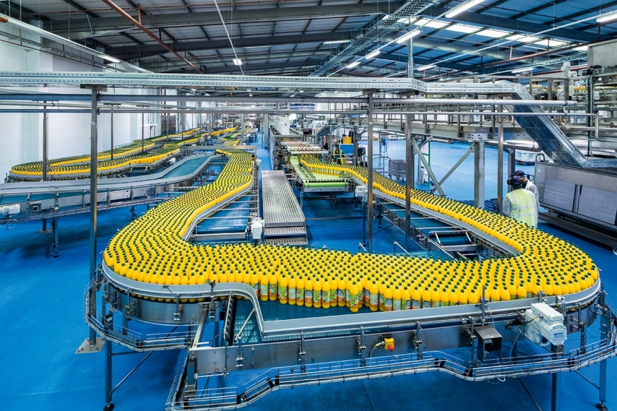 BRITVIC SOFT DRINKS MULTIMILLION-POUND  FACTORY TRANSFORMATION